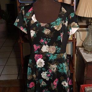 ELLE scuba like style, capped sleeve dress SZ 16